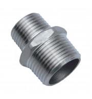 """Niple Redução Inox 304 - BSP 3/8"""" x 1/4"""""""