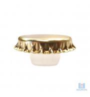 Tampa Champagne 29mm dourada com Bidule Medusa Integrado Dourada