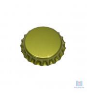Tampinha ou rolha metálica dourada 26mm para garrafas de cerveja