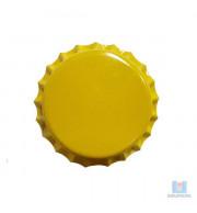 Tampa Cerveja Pry Off Amarelo Escuro - 100 Unidades