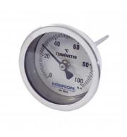 "Termômetro Bimetálico 2,5x1/2"" Inox 0-100 °C - Haste 100mm"