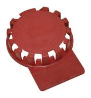 Lacre Plástico Para Barril De Chopp em Inox - Vermelho