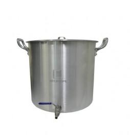 Caldeirão Cervejeiro Alumínio Reforçado n.50 com Válvula Inox - 94,2 lts