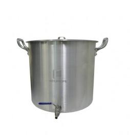 Caldeirão Cervejeiro Alumínio Reforçado n.32 com Válvula Inox - 22,5 lts