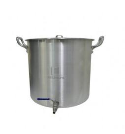 Caldeirão Cervejeiro Alumínio Reforçado n.26 com Válvula Inox - 12,7 lts