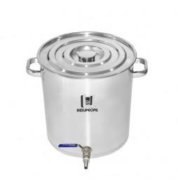 Caldeirão Cervejeiro Aço Inox nº 40 com Válvula Inox - 48 Litros