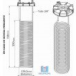 Kit Refrigeração Completo Tampa para Fermentador da cor Bege 200/250 Litros