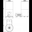 Fermentador Cônico PP Auto Refrigerado 315  Litros