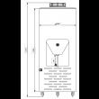 Fermentador Cônico PP Auto Refrigerado 50  Litros