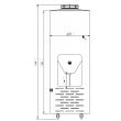 Fermentador Cônico PP Auto Refrigerado 75  Litros